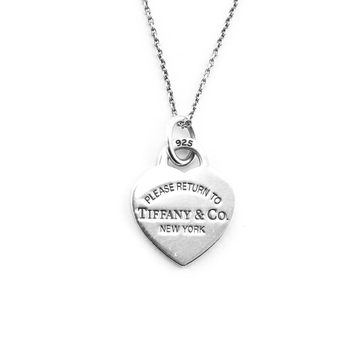 Tiffany Co Sterling Silver Return To Tiffany Heart Pendant Necklace