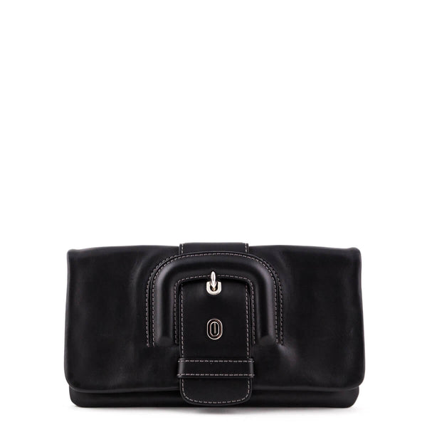 eaa0f120b533 Tod s Black Lucy Buckle Clutch - LOVE that BAG - Preowned Authentic  Designer Handbags
