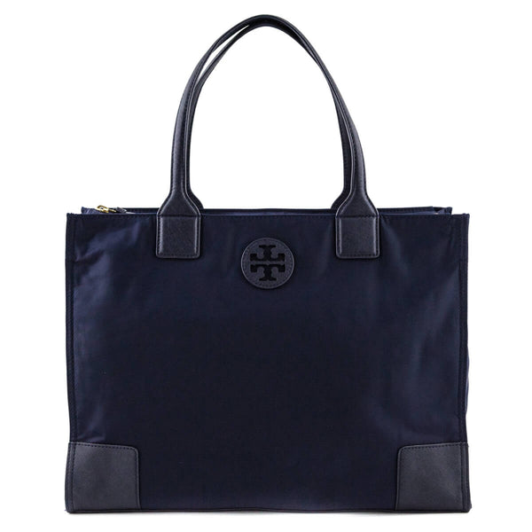 211ec5a0accc Tory Burch Navy Nylon Leather-Trimmed Packable Tote - LOVE that BAG -  Preowned Authentic