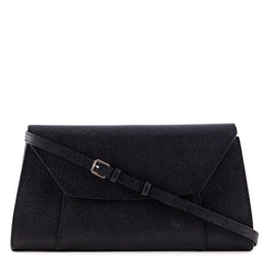 Valextra Black La Scala Large Clutch/Crossbody - 1