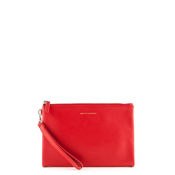 dbe0775fb711 Want Les Essentiels Red Barajas Double Zip Folio Pouch - LOVE that BAG -  Preowned Authentic