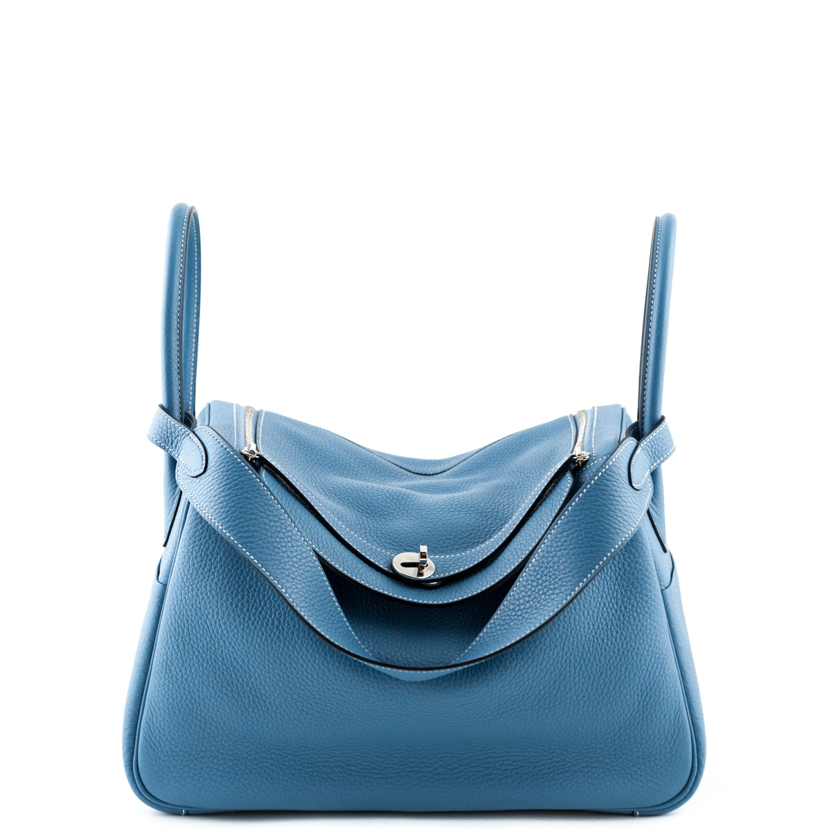 Hermes Blue Jeans Clemence Taurillon Lindy 34 - LOVE that BAG - Preowned  Authentic Designer Handbags ... 7f45ae5269623