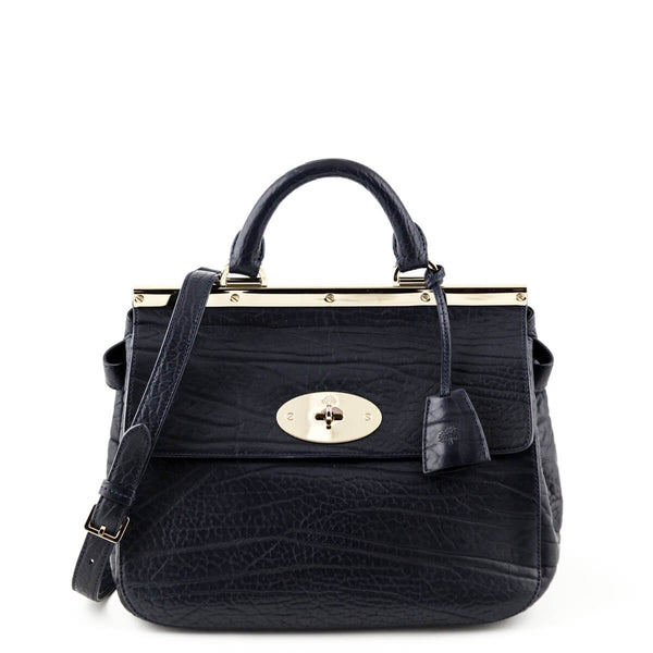 e8fa13f6e297 Mulberry Navy Calfskin Small Suffolk Satchel Bag
