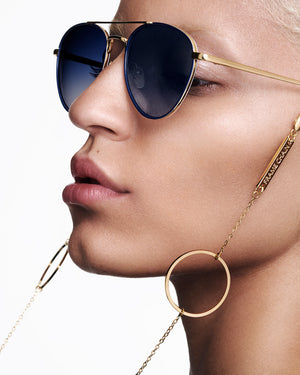 FRAME CHAIN | LOOP DE LOOP in YELLOW GOLD | Glasses Chains | Eyewear Chains