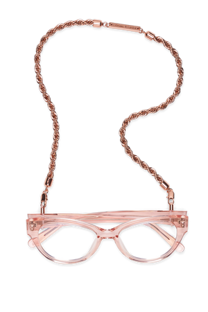 FRAME CHAIN - HEY SHORTY in ROSE GOLD - Glasses chain