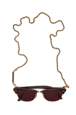 FRAME CHAIN | ROLLER CHAIN in YELLOW GOLD | Glasses Chains | Eyewear Chains