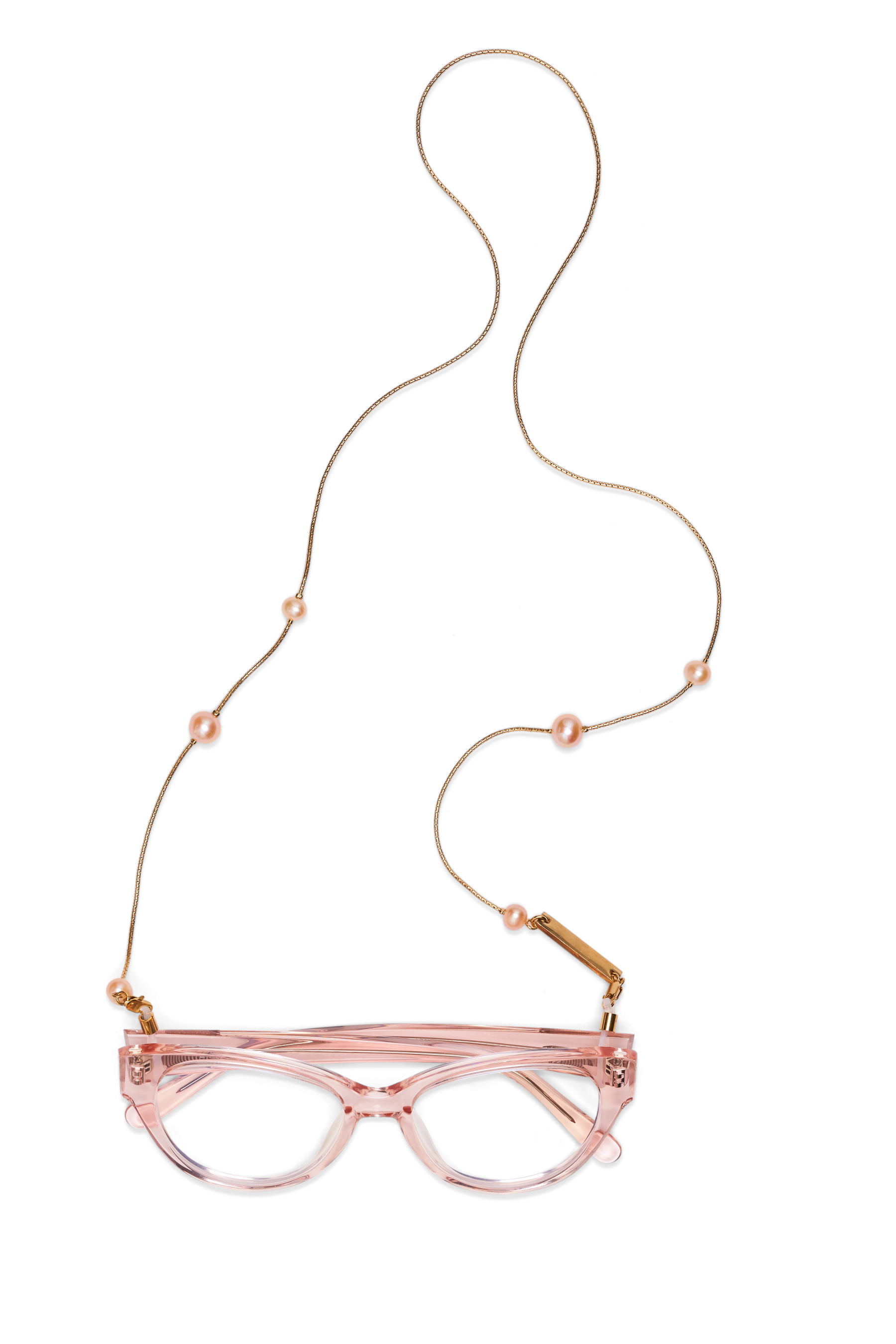 PINKY PEARL in YELLOW GOLD - FRAME CHAIN