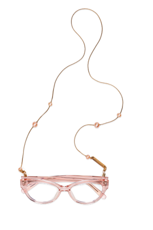 FRAME CHAIN | PINKY PEARL in YELLOW GOLD | Glasses Chains | Eyewear Chains