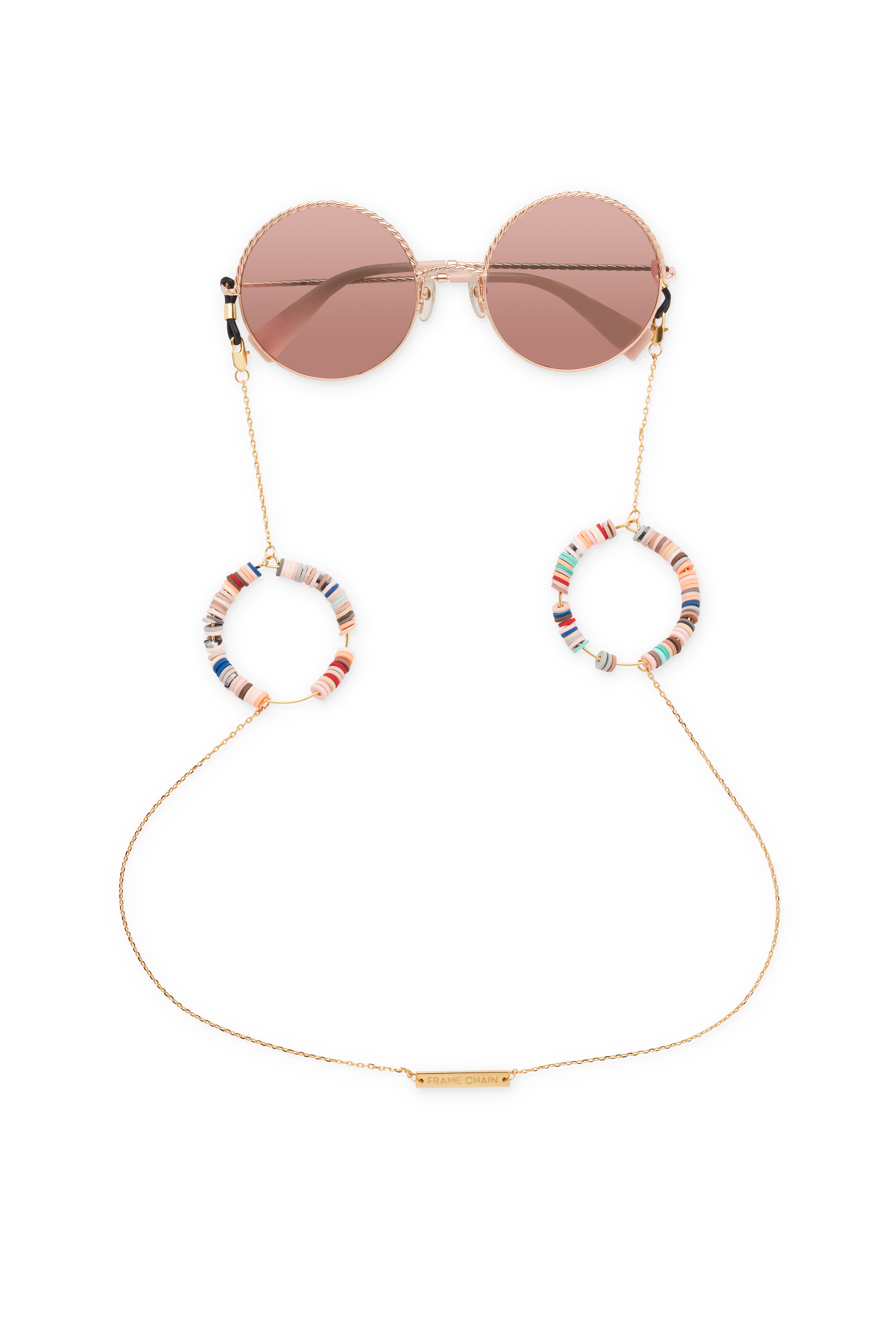 FRAME CHAIN | CANDY POP NUDE in YELLOW GOLD | Glasses Chains | Eyewear Chains