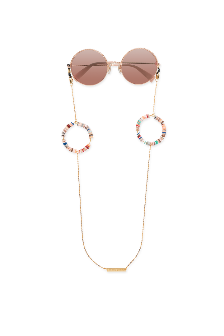 CANDY POP NUDE in YELLOW GOLD - FRAME CHAIN