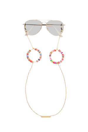 FRAME CHAIN | CANDY POP PINK in YELLOW GOLD | Glasses Chains | Eyewear Chains