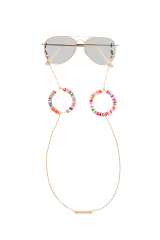 CANDY POP PINK in YELLOW GOLD - FRAME CHAIN