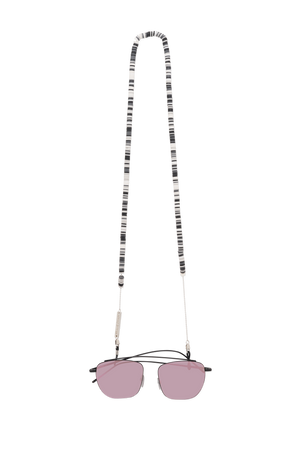 FRAME CHAIN | CANDY RAIN BLACK in WHITE GOLD | Glasses Chains | Eyewear Chains