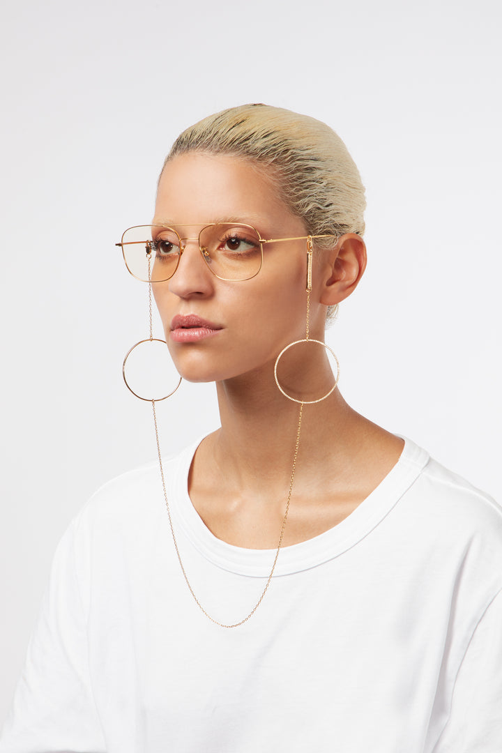 FRAME CHAIN - CIRCLE OF LUST in ROSE GOLD - Glasses Chain