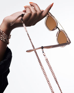 FRAME CHAIN - DIAMOND GEEZER in ROSE GOLD - Glasses chain