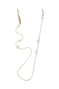 FRAME CHAIN - DROP PEARL in YELLOW GOLD - Glasses chain