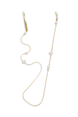 FRAME CHAIN - DROP PEARL - YELLOW GOLD - Glasses chain