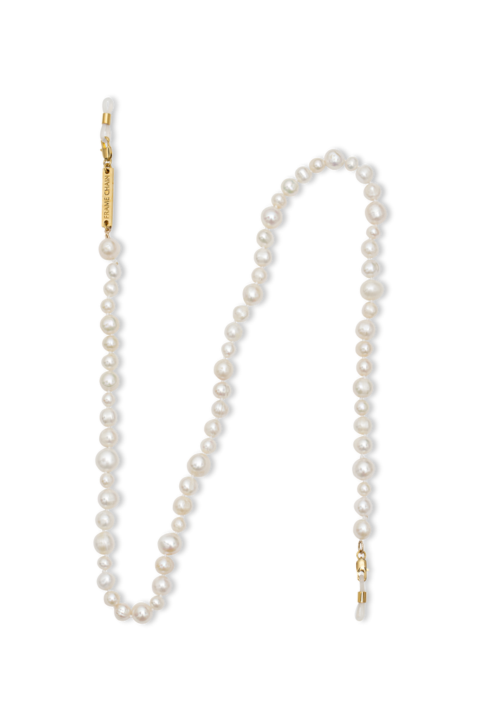 Frame Chain Pearly Queen pearl and gold-plated glasses chain eFl7f