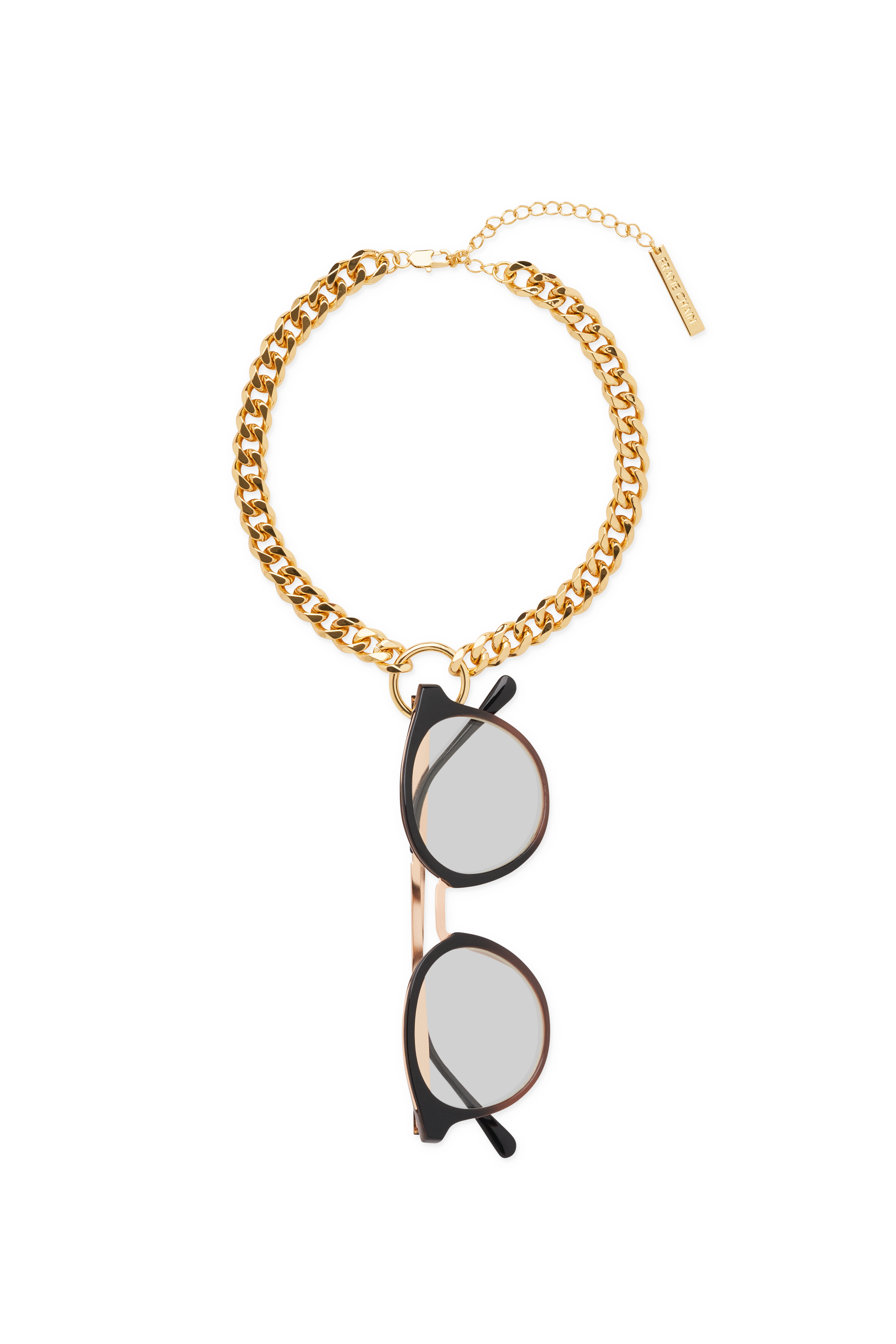 FRAME CHAIN | HOOKER DIAMOND in YELLOW GOLD | Glasses Chains | Eyewear Chains