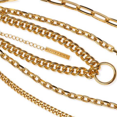 GET HOOKY in YELLOW GOLD - FRAME CHAIN