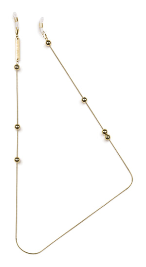 FRAME CHAIN - GOLDEN BALLS in YELLOW GOLD - Glasses chain