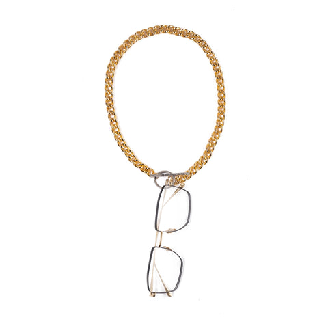 HOOKY in YELLOW and WHITE GOLD - FRAME CHAIN