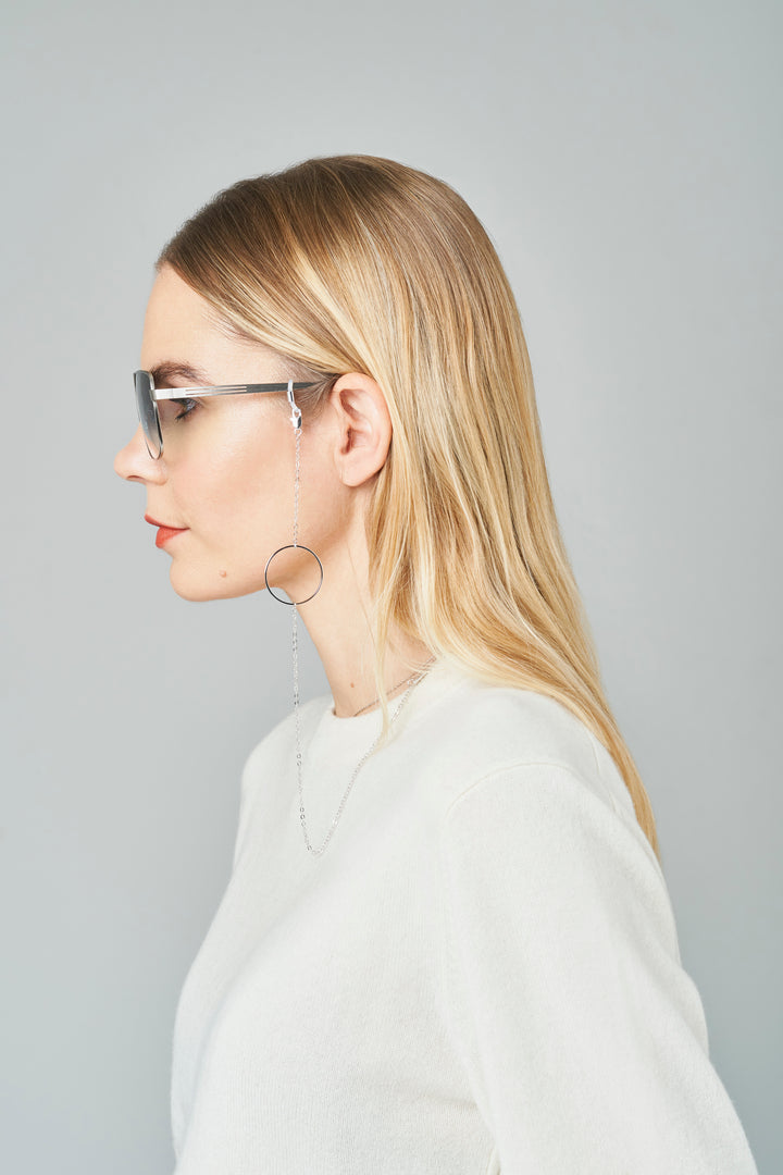 FRAME CHAIN | LOOP DE LOOP in WHITE GOLD | Glasses Chains | Eyewear Chains