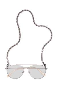 FRAME CHAIN - HEY SHORTY in WHITE GOLD - Glasses chain