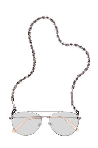 FRAME CHAIN | HEY SHORTY in WHITE GOLD | Glasses Chains | Eyewear Chains