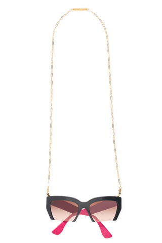 FRAME CHAIN - SQUARED in YELLOW GOLD - Glasses chain
