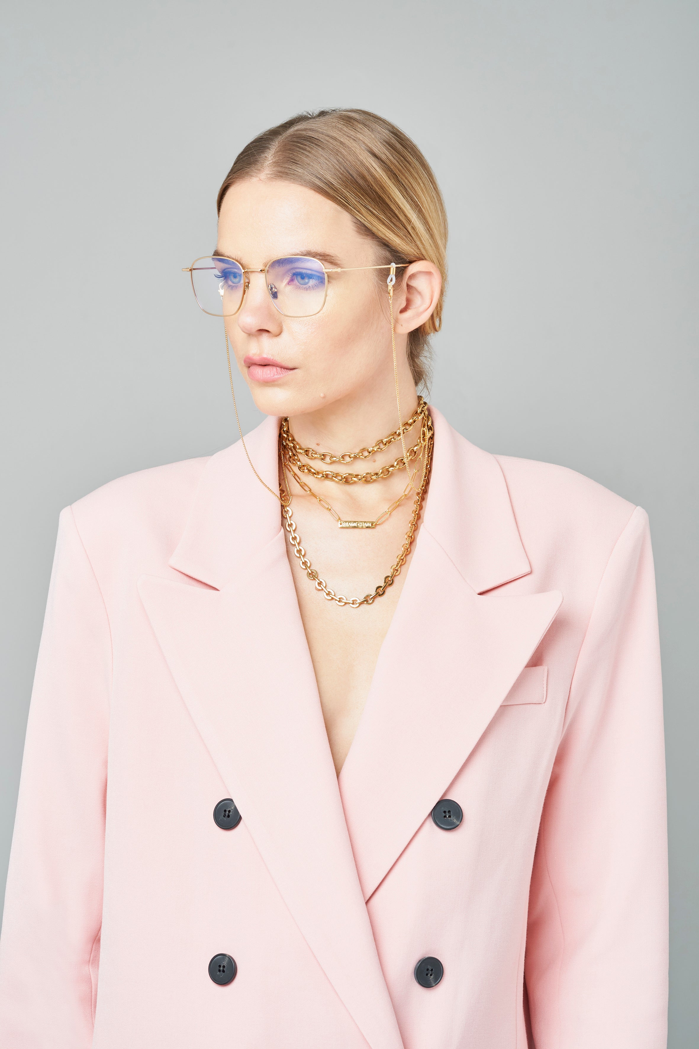 FRAME CHAIN | TONY in YELLOW GOLD | Glasses Chains | Eyewear Chains
