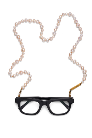 FRAME CHAIN | PEARLY QUEEN in YELLOW GOLD | Glasses Chains | Eyewear Chains