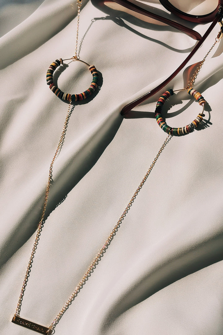 FRAME CHAIN | CANDY POP MUD in YELLOW GOLD | Glasses Chains | Eyewear Chains