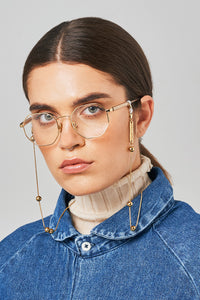 FRAME CHAIN | GOLDEN BALLS in YELLOW GOLD | Glasses Chains | Eyewear Chains