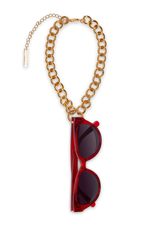 FRAME CHAIN | HOOKER in YELLOW GOLD | Glasses Chains | Eyewear Chains