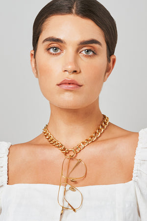 HOOKER in YELLOW GOLD - FRAME CHAIN