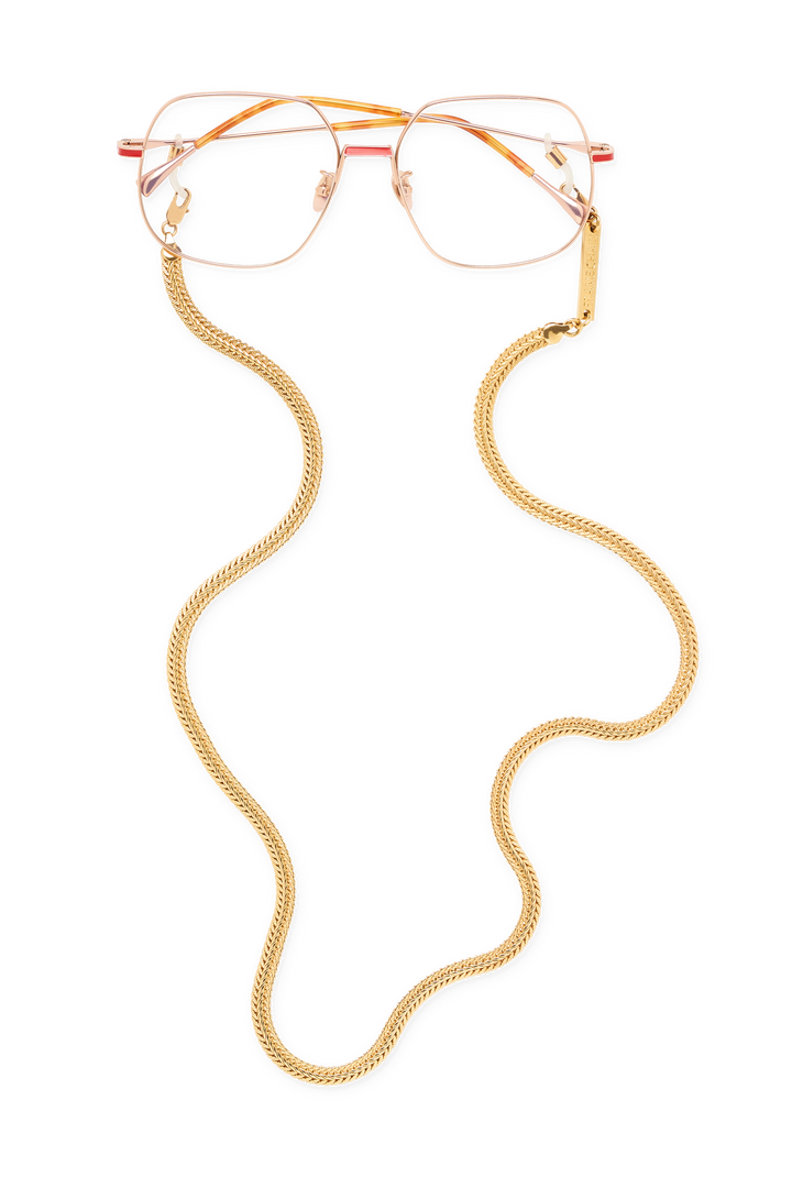 FRAME CHAIN | BILLIE in YELLOW GOLD | Glasses Chains | Eyewear Chains