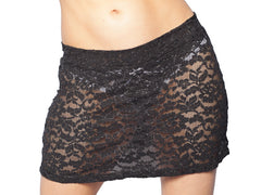 Black Lace A-Line Mini Skirt