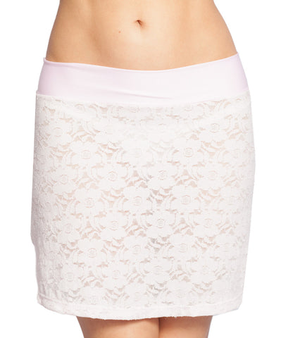 Pink Lace Mini Skirt