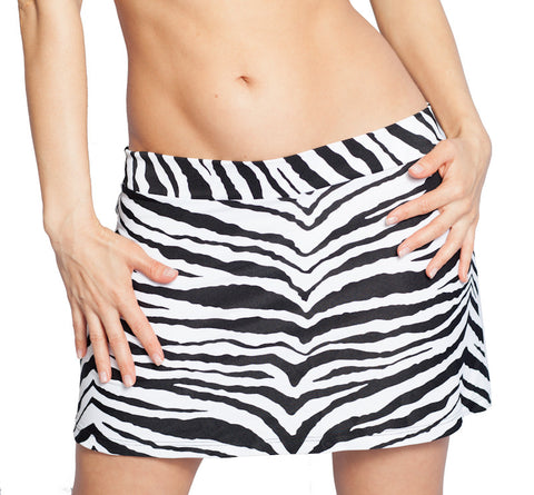 zebra mini skirt