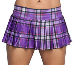 Purple Plaid Schoolgirl Skirt