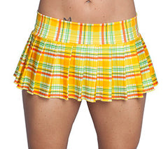 Yellow Plaid Schoolgirl Skirt