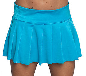Turquoise Pleated Mini SKirt