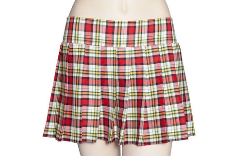 Red and Yellow Plaid Schoolgirl Skirt Plus Size