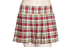 Red and Yellow Plaid Schoolgirl Skirt