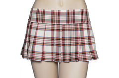 Red, White and Yellow Plaid Schoolgirl Skirt