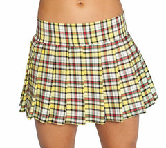 Yellow and Black Plaid Schoolgirl Skirt Plus Size