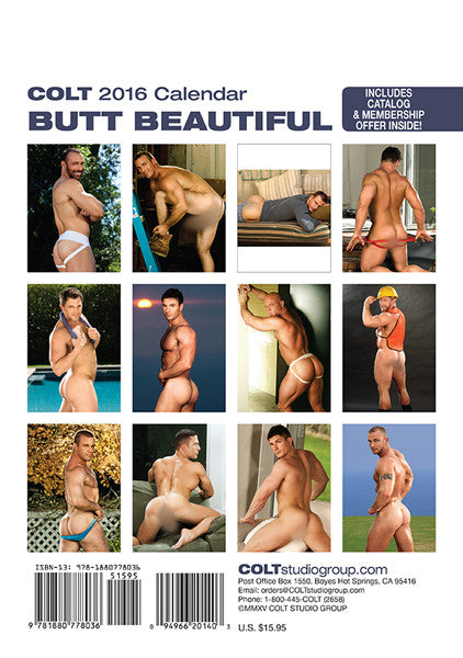 2016 Butt Beautiful Calendar