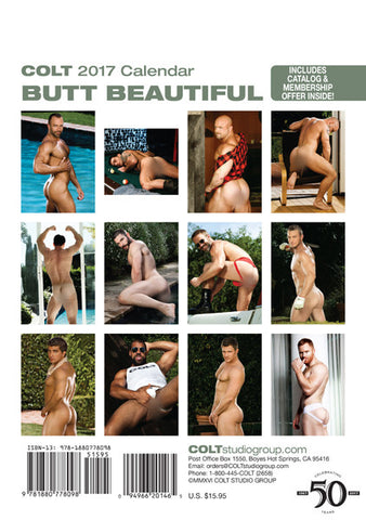 COLT Butt Beautiful Digital 2017 Calendar