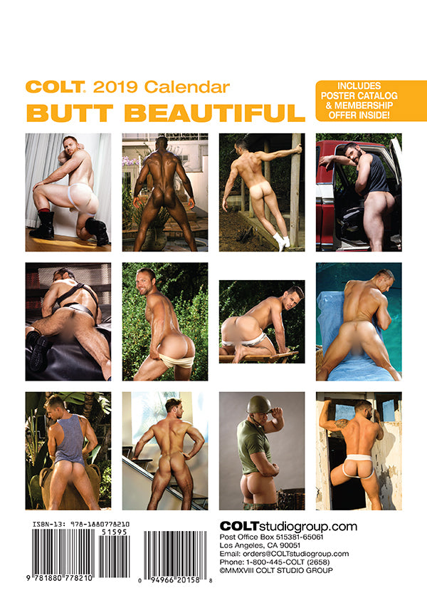 COLT Butt Beautiful Digital 2019 Calendar